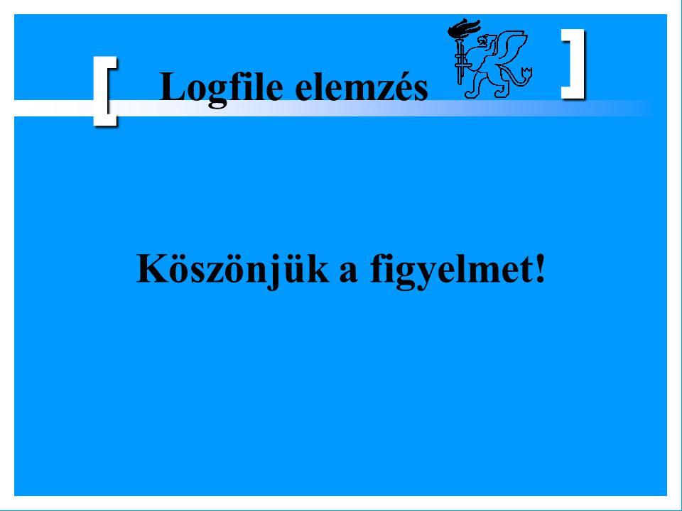 ] [ Logfile elemzés Köszönjük a figyelmet!